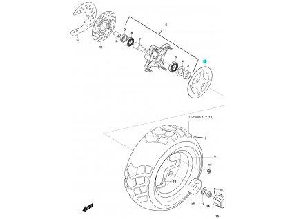 [13] Podložka kola (FIG48) - Hyosung 450 Sport