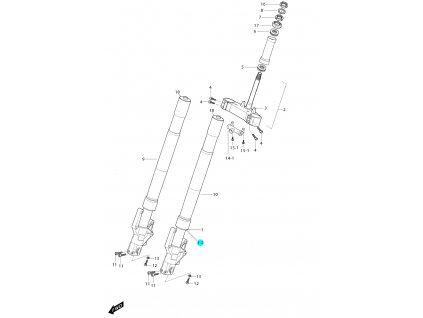[1-2] Těsnění prachové 09289H41650 (vidlice přední) - Hyosung GT 650i R J 2012 (FI Delphi)
