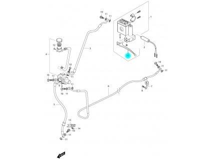 [15] Páčka brzdová levá (brzdový systém zadní) - Hyosung MS3 250i