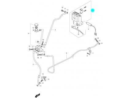 [1] Brzdový válec zadní kompletní (brzdový systém zadní) - Hyosung MS3 250i