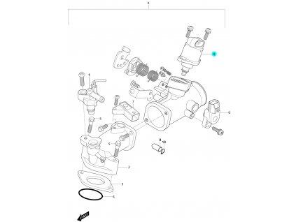 [8] Regulační ventil volnoběhu (FIG10) - Hyosung MS3 250i