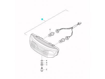 [1] Světlomet kompletní (přední světlomet) - Hyosung SD 50 Sense