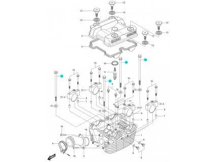 [14] Šroub (hlava zadního válce) - Hyosung GT 125 N E