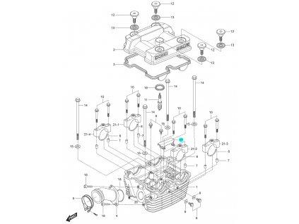 [17] Držák vodící (hlava zadního válce) - Hyosung GT 125 N E
