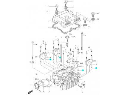 [7] Pouzdro (hlava zadního válce) - Hyosung GT 125 N E