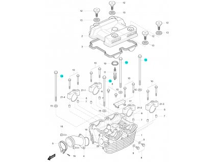 [14] Šroub (hlava zadního válce) - Hyosung GT 125 R E3