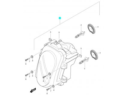 [1] Světlomet kompletní (přední světlomet) - Hyosung GT 650 S & R