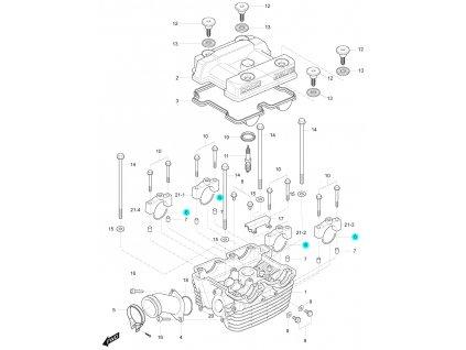 [6] C-kroužek (hlava zadního válce) - Hyosung GT 125 R E3