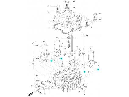 [7] Pouzdro (hlava zadního válce) - Hyosung GT 125 R E3