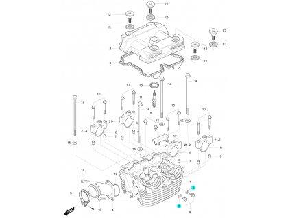 [9] Těsnění (hlava zadního válce) - Hyosung GT 125 R E3