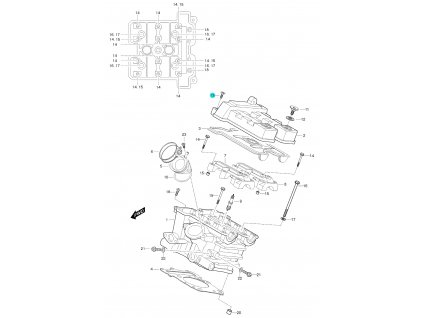 [13] Šroub (FIG01h) - Hyosung GT 650 S & R