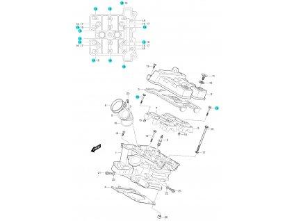 [14] Šroub (FIG01h) - Hyosung GT 650 S & R