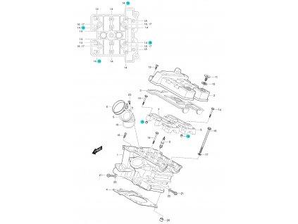 [15] Pouzdro (FIG01h) - Hyosung GT 650 S & R