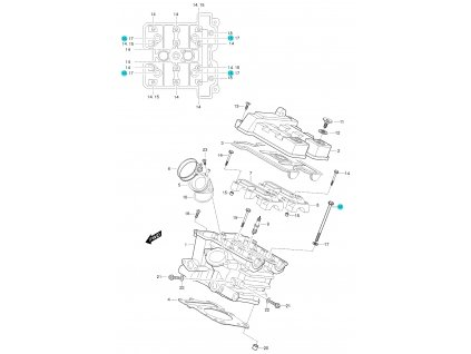 [16] Šroub (FIG01h) - Hyosung GT 650 S & R