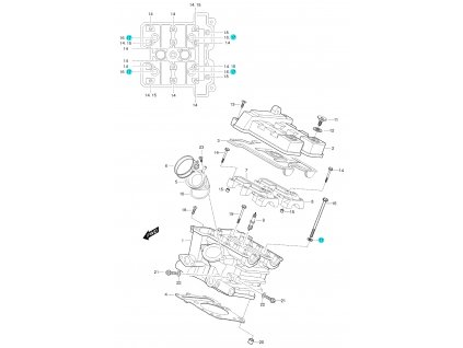 [17] Podložka (FIG01h) - Hyosung GT 650 S & R