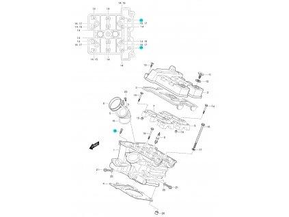 [18] Šroub (FIG01h) - Hyosung GT 650 S & R