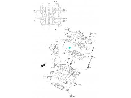 [7] Pouzdro vačkového hřídele / vstup (FIG01h) - Hyosung GT 650 S & R