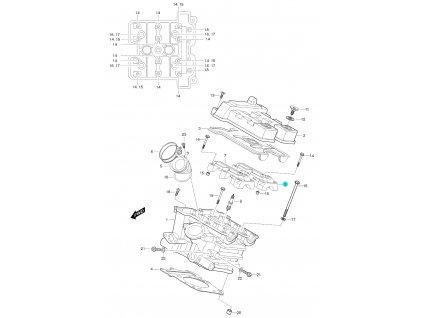 [8] Pouzdro vačkového hřídele / výstup (FIG01h) - Hyosung GT 650 S & R