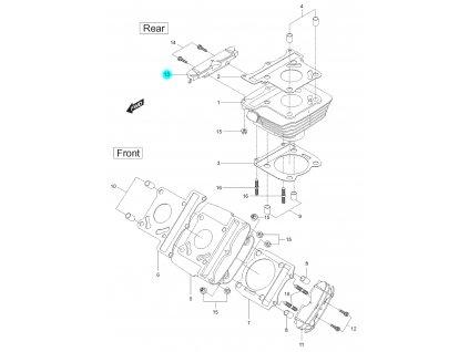 [13] Boční kryt zadního válce (FIG02) - Hyosung GT 125 N