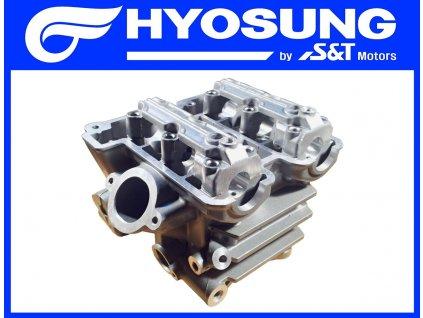 [1] Hlava válce (bez sekundárního vzduchu) (hlava zadního válce) - Hyosung GT 650 N