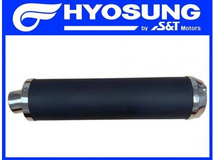 [1] Tlumič výfuku / černý (výfuk) - Hyosung GT 650 N