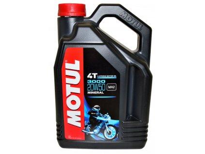 Motorový olej MOTUL 3000 4T 20W-50, 4 Litry