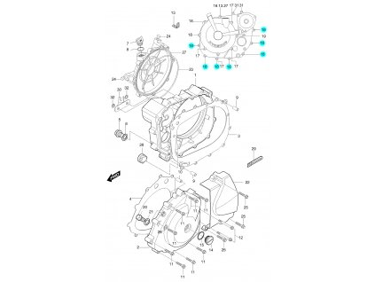 [16] Šroub (FIG05) - Hyosung GT 650 S & R