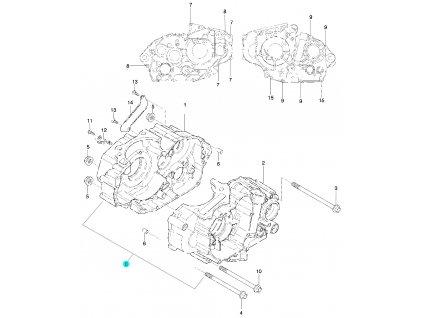 [0] Skříň klikového hřídele kompletní (FIG04) - Hyosung 450 Sport