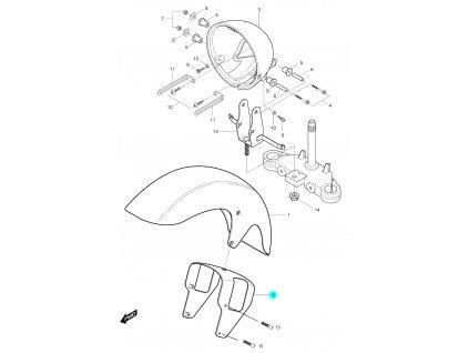 [2] Vzpěra (FIG37) - Hyosung GV 125