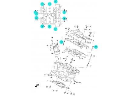 [14] Šroub (FIG01h) - Hyosung GT 650 N
