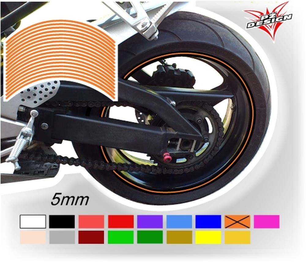 """Klasické proužky na ráfky kol, šíře 5 mm Barva: Oranžová, Velikost kola: 12"""" - 13"""""""