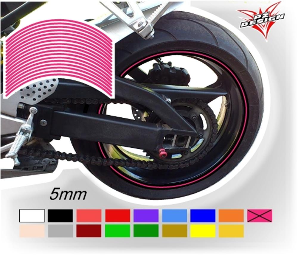 """Klasické proužky na ráfky kol, šíře 5 mm Barva: Růžová, Velikost kola: 12"""" - 13"""""""