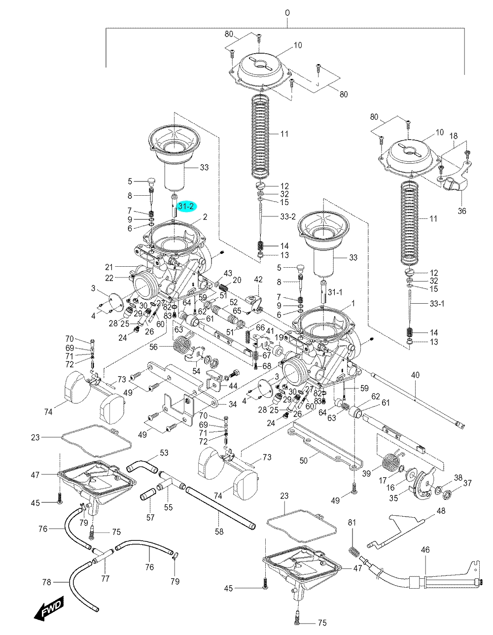 [31-2] Ventil jehlový (karburátor) - Hyosung GV 250
