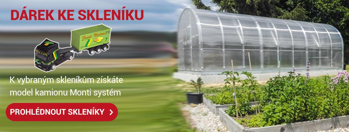 Získejte dárek k nákupu skleníku.