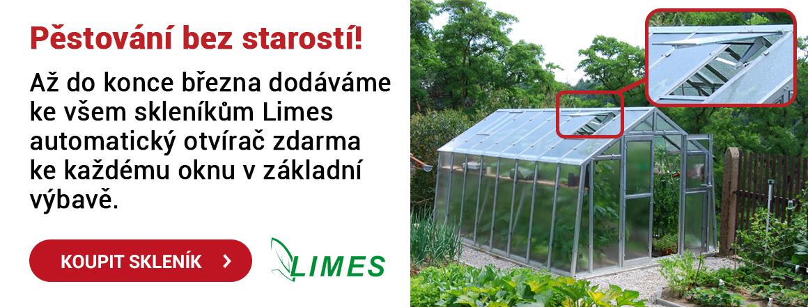 Skleníky Limes s otvíračem okna zdarma