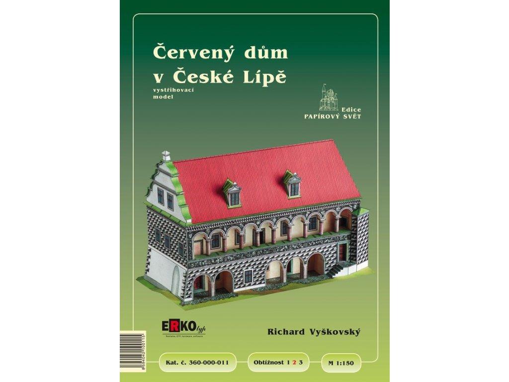 Papírový model Červeného domu v České Lípě