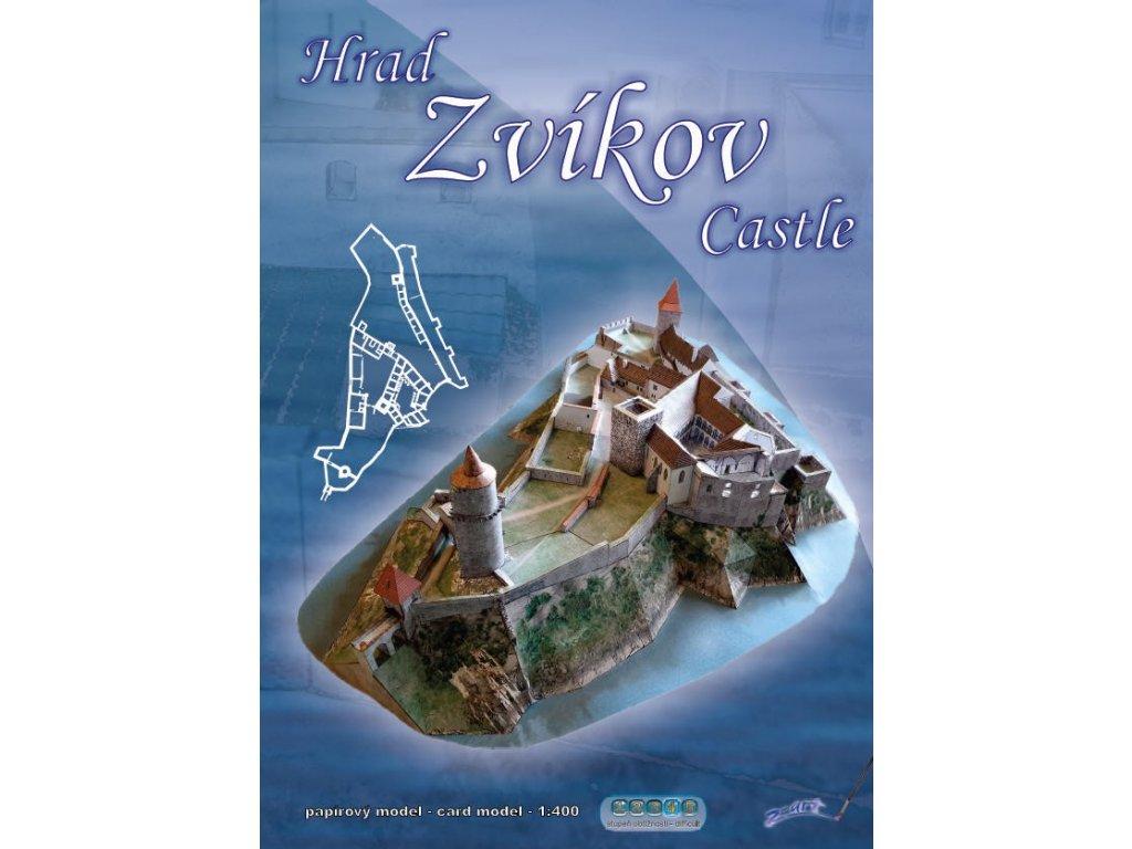 Papírový model hradu Zvíkov