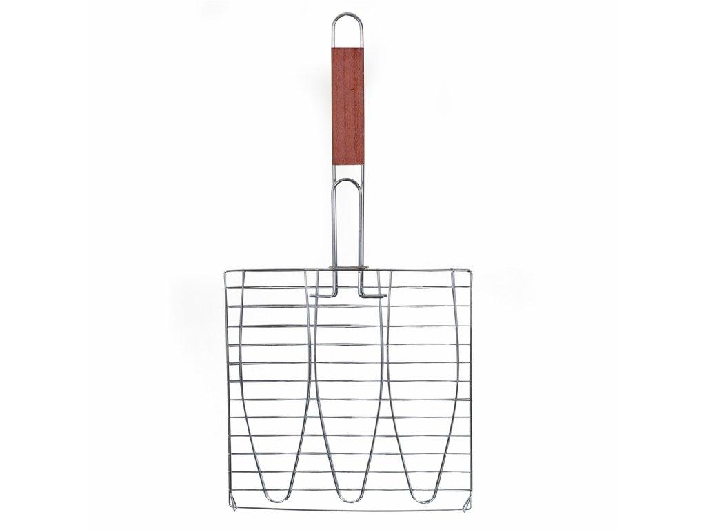 Trojitý grilovací rošt na ryby - 52 cm