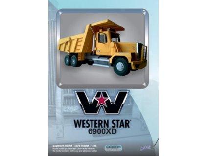 Papírový model sklápěče Western Star 6900 XD