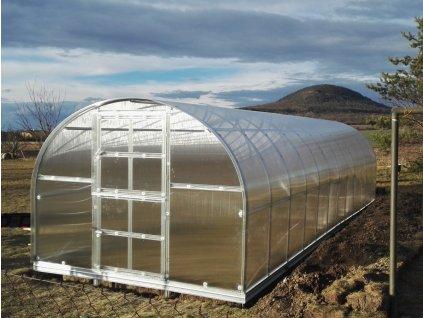 Zahradní skleník z polykarbonátu Gardentec Classic 8 m  + Model kamionu Mercedes - Fruit Nectar + Kompletní sada těsnění + Spirálové tyče na rajčata (set 5 ks)