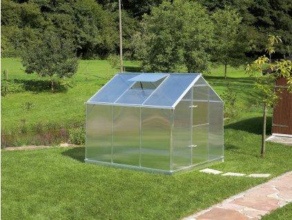 Zahradní skleník z polykarbonátu Gardentec F3  + Spirálové tyče na rajčata (set 5 ks)