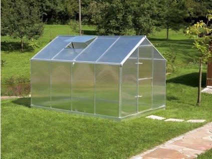 Zahradní skleník z polykarbonátu Gardentec F4  + Spirálové tyče na rajčata (set 5 ks)