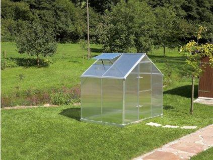 Zahradní skleník z polykarbonátu Gardentec F2  + Spirálové tyče na rajčata (set 5 ks)