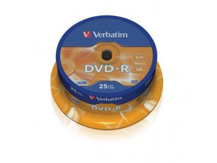 DVD R 4,7 GB 16X 25CAKE DISK VERBATIM obrázek 1