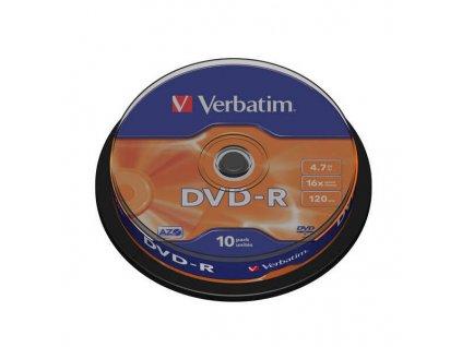 DVD R 4,7 GB 16X 10KS DISK VERBATIM obrázek 1