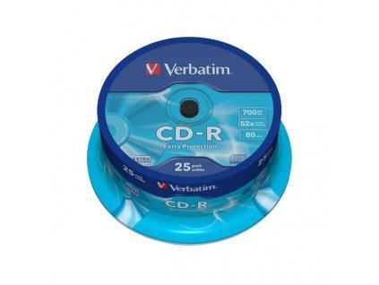 CD R DL 700MB80 25KS EXTRA PROTECTION VERBATIM obrázek 1