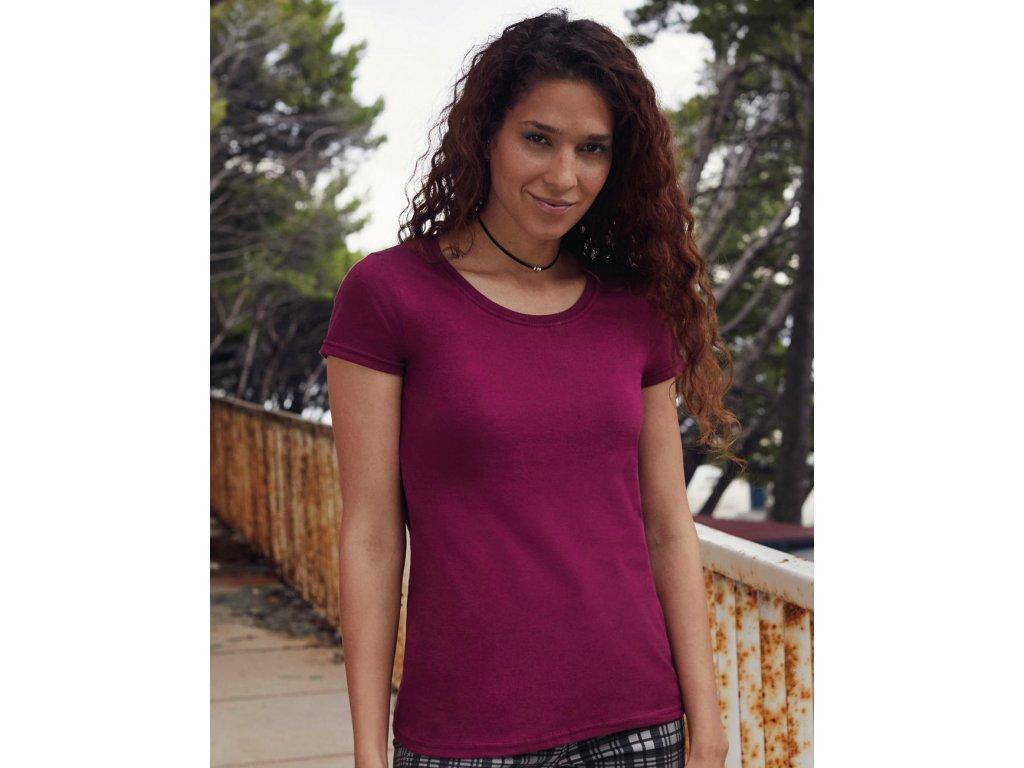 Dámske tričko z prstencovej bavlny Premium