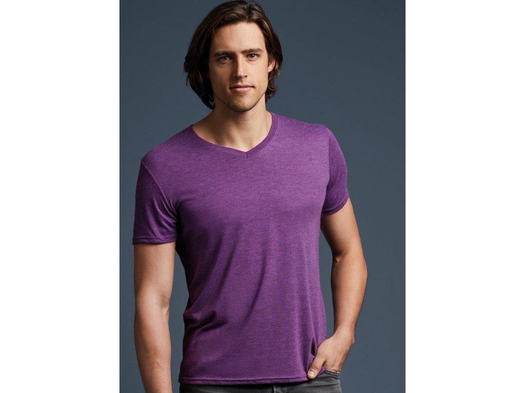 Pánske tričko Tri-Blend V-neck