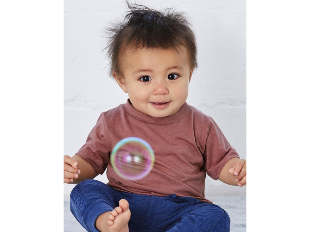 Detské tričko Triblend s krátkymi rukávmi
