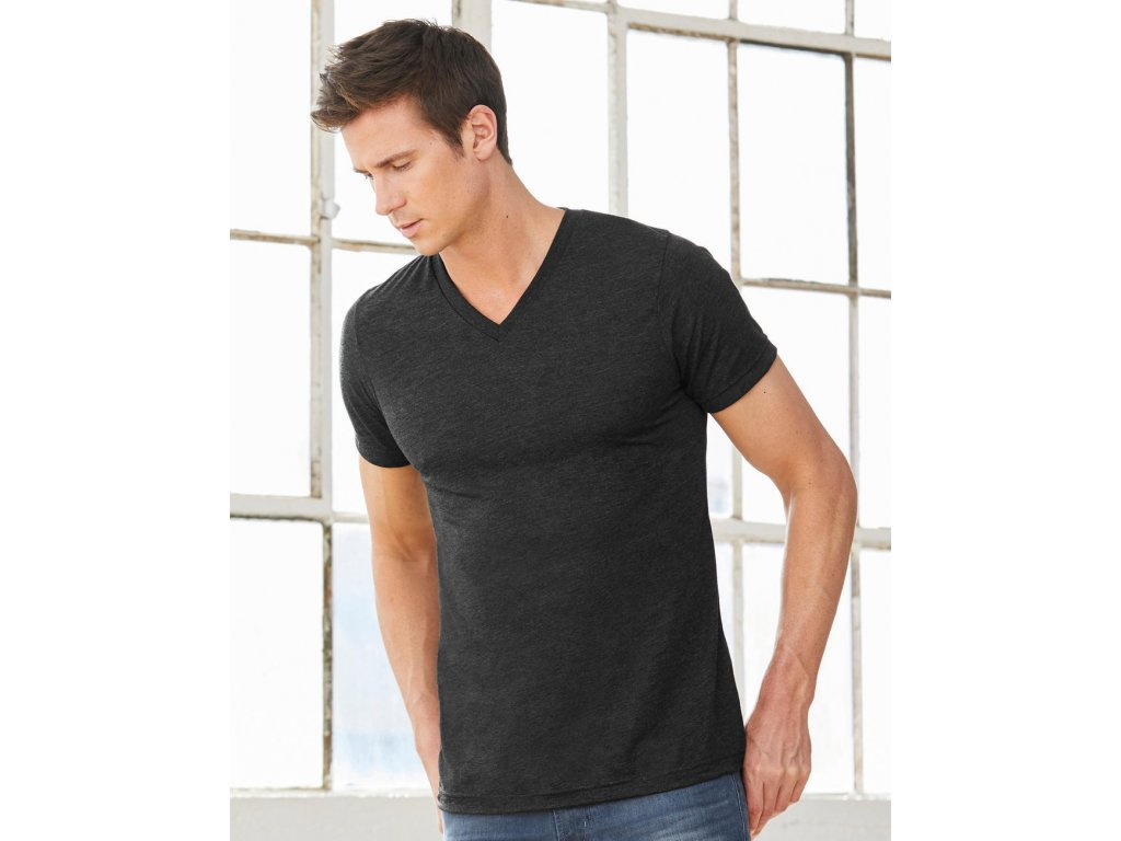 Unisex tričko Triblend V-neck